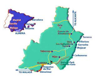 Almerimar in province Almeria